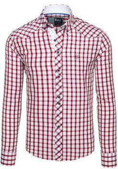 Koszula męska BOLF 5812 bordowa