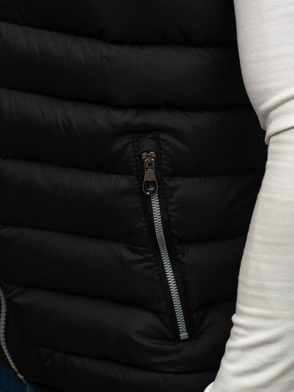 Kamizelka męska dwustronna z kapturem czarna Denley 5374