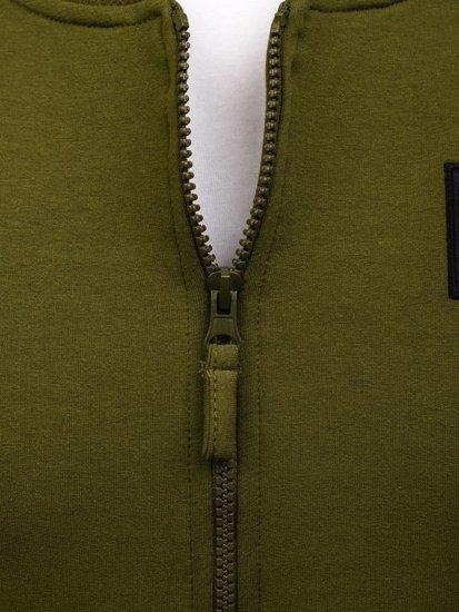 Bluza męska bez kaptura zielona Denley 0736