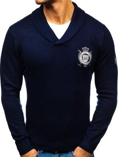 Sweter męski granatowy Denley 19022