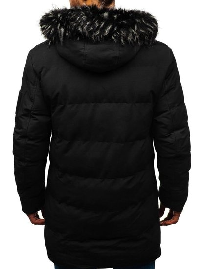 Kurtka męska zimowa parka czarna Denley 5585