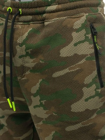 Spodnie męskie dresowe joggery moro multikolor Denley 3771C