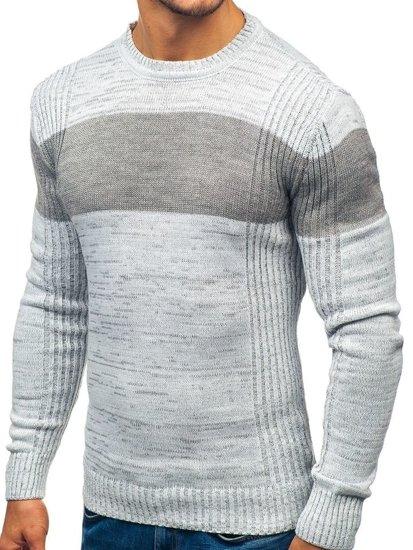 Sweter męski szary Denley 82901