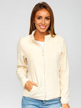 Beżowa polarowa bluza damska Denley HH001