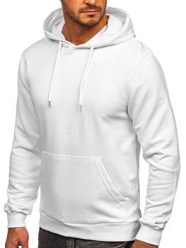 Biała bluza kangurka męska z kapturem Denley 146253