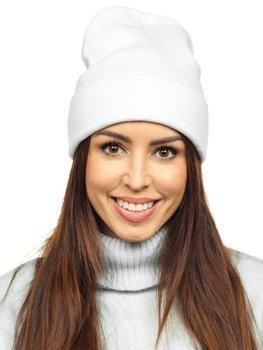 Biała czapka zimowa damska YW09004