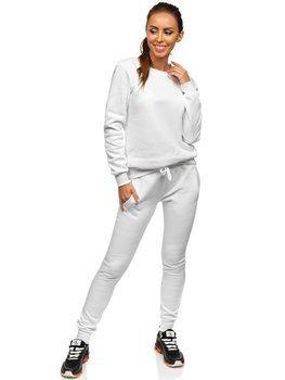 Biały komplet dresowy damski Denley 0001