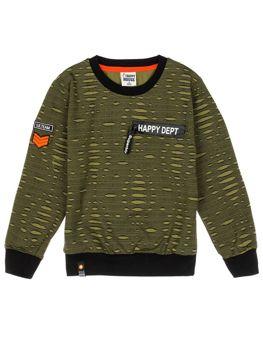Bluza chłopięca bez kaptura zielona Denley HB1963