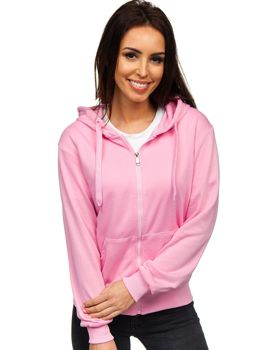 Bluza damska z kapturem jasnoróżowa Denley WB1005
