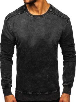 Bluza męska bez kaptura czarna Denley KK1030