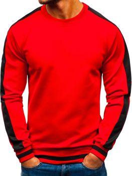 Bluza męska bez kaptura czerwona Denley 99009