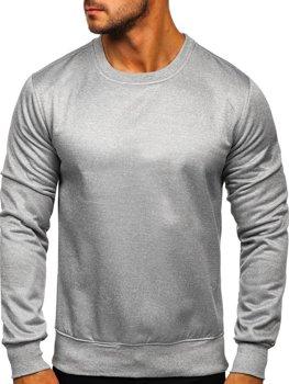 Bluza męska bez kaptura szara Denley 2001-2