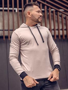 Bluza męska z kapturem beżowa Bolf 145380
