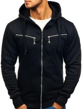 Bluza męska z kapturem czarna Denley 004