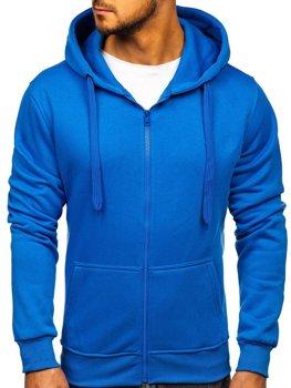 Bluza męska z kapturem jasnoniebieska Denley 2008