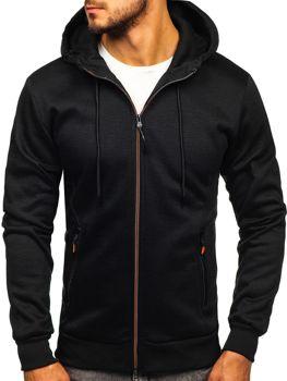 Bluza męska z kapturem rozpinana czarna Denley 88029