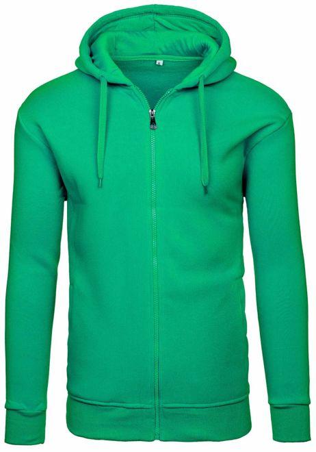 Bluza męska z kapturem zielona Denley M9