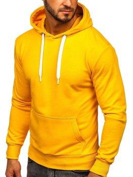 Bluza męska z kapturem żółta Bolf 1004