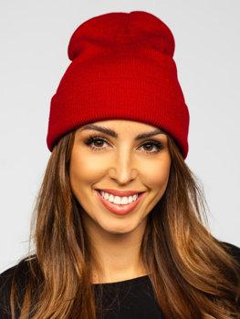 Bordowa czapka zimowa damska YW09004