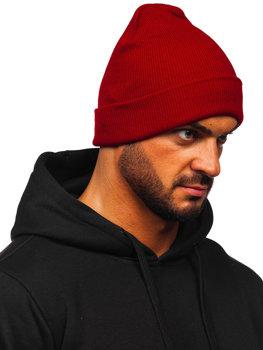 Bordowa czapka zimowa męska YW09004M