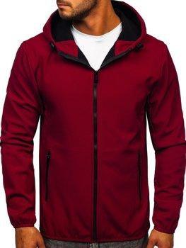 Bordowa kurtka męska przejściowa softshell Denley KS2182