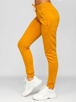 Camelowe spodnie dresowe damskie Denley CK-01