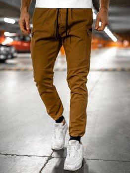 Camelowe spodnie joggery męskie Bolf B11103