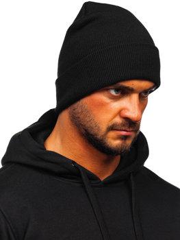 Czarna czapka zimowa męska YW09004M