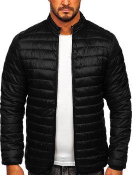 Czarna pikowana przejściowa kurtka męska Denley LY33