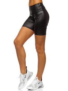 Czarne krótkie legginsy damskie Denley 54548-2