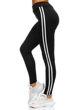 Czarne legginsy damskie Denley YW01036