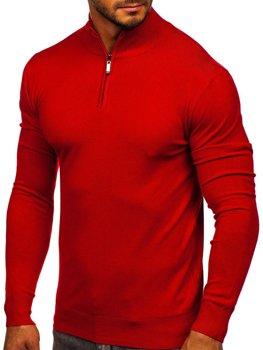 Czerwony ze stójką sweter męski Denley YY08