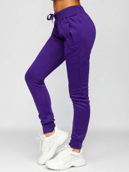 Fioletowe spodnie dresowe damskie Denley CK-01