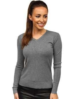 Grafitowy sweter damski Denley AL0204L