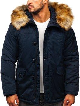 Granatowa kurtka męska zimowa parka alaska Denley JK355
