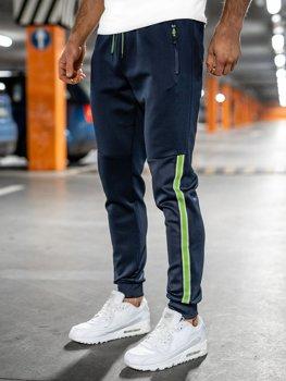 Granatowe dresowe spodnie męskie Denley K20025