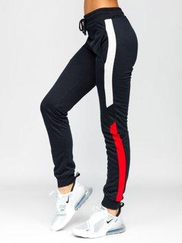 Granatowe spodnie dresowe damskie Denley HW2051