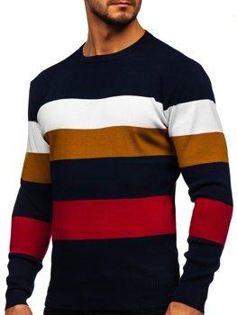 Granatowy sweter męski Denley H2005