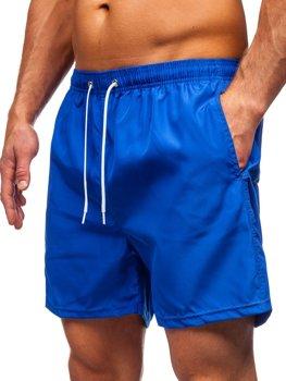 Kobaltowe krótkie spodenki kąpielowe męskie Denley ST019