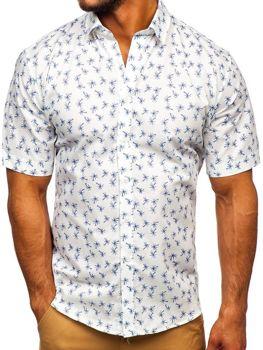 Koszula męska we wzory z krótkim rękawem multikolor-1 Denley TSK101