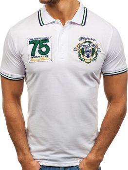 Koszulka polo męska biała Denley 0605