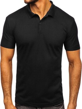 Koszulka polo męska czarna Denley GD01