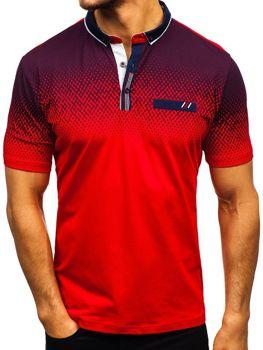 Koszulka polo męska czerwona Denley 6599