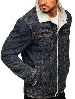 Kurtka jeansowa męska czarna Denley 1109