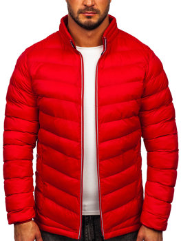 Kurtka męska przejściowa sportowa pikowana czerwona Denley 1100