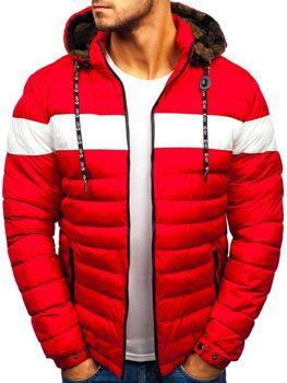 Kurtka męska zimowa czerwona Denley A410
