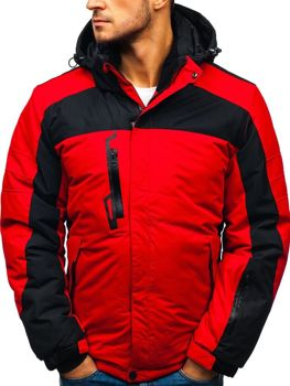 9ed32dee680d7 Kurtka męska zimowa narciarska czerwona Denley HZ8112