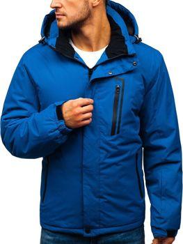 Kurtka męska zimowa narciarska niebieska Denley HZ8107