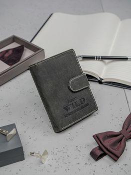 Portfel męski skórzany czarny 3198