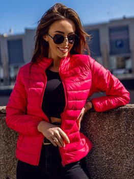 Różowa pikowana kurtka damska przejściowa Denley 20311